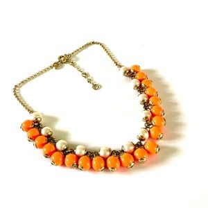 J.CREW creamsicle bead & pearl bauble necklace NWT